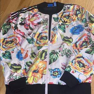 Adidas flower track jacket